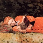 'The New Novel', 1877, Winslow Homer