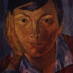 'Yellow Face (Female Face)', 1921, Kuzma Petrov-Vodkin